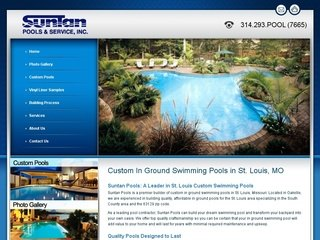 Small Business SEO Services - Suntan Pools Search Engine Optimization Project